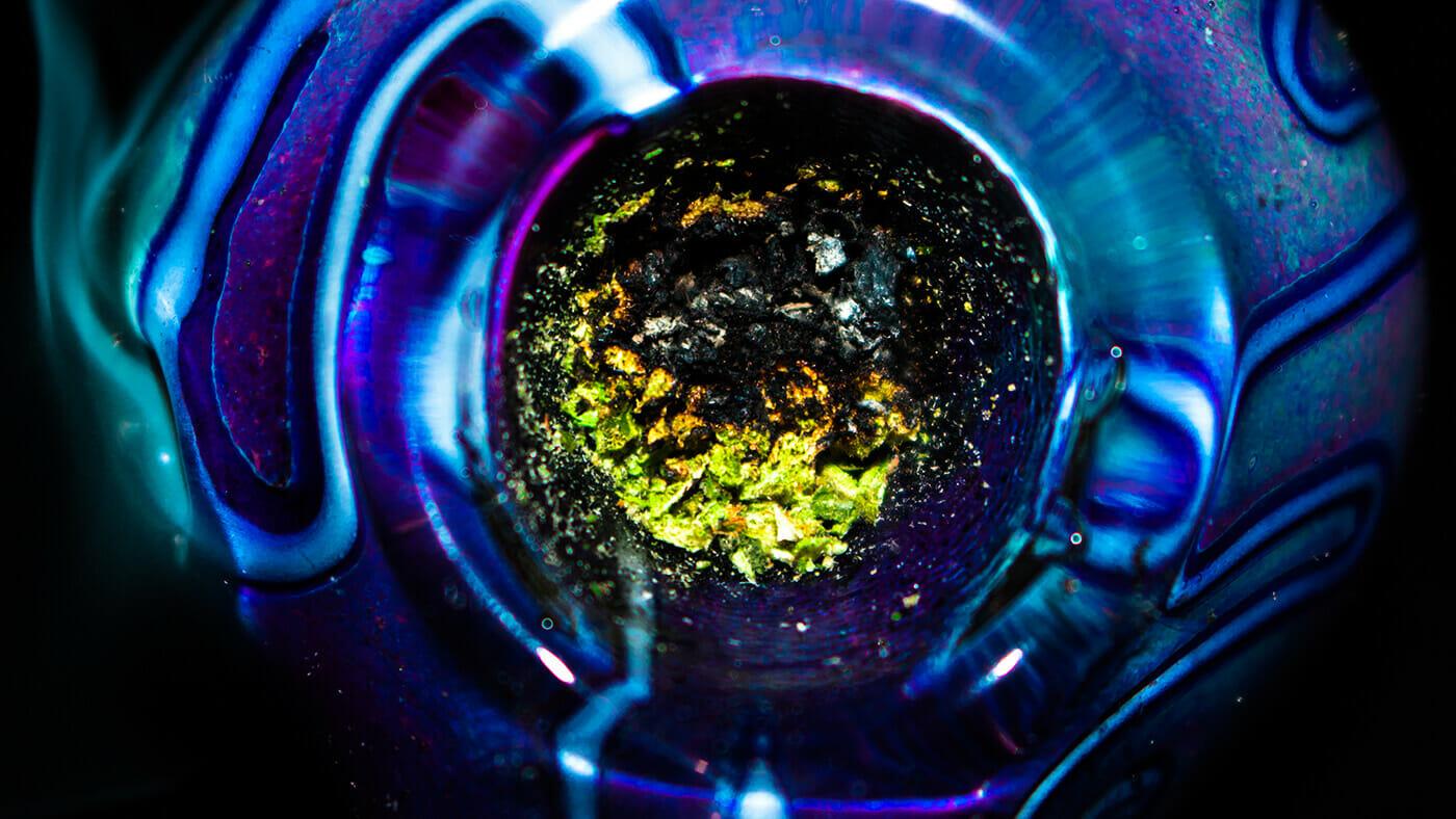 smoke hemp in a pipe