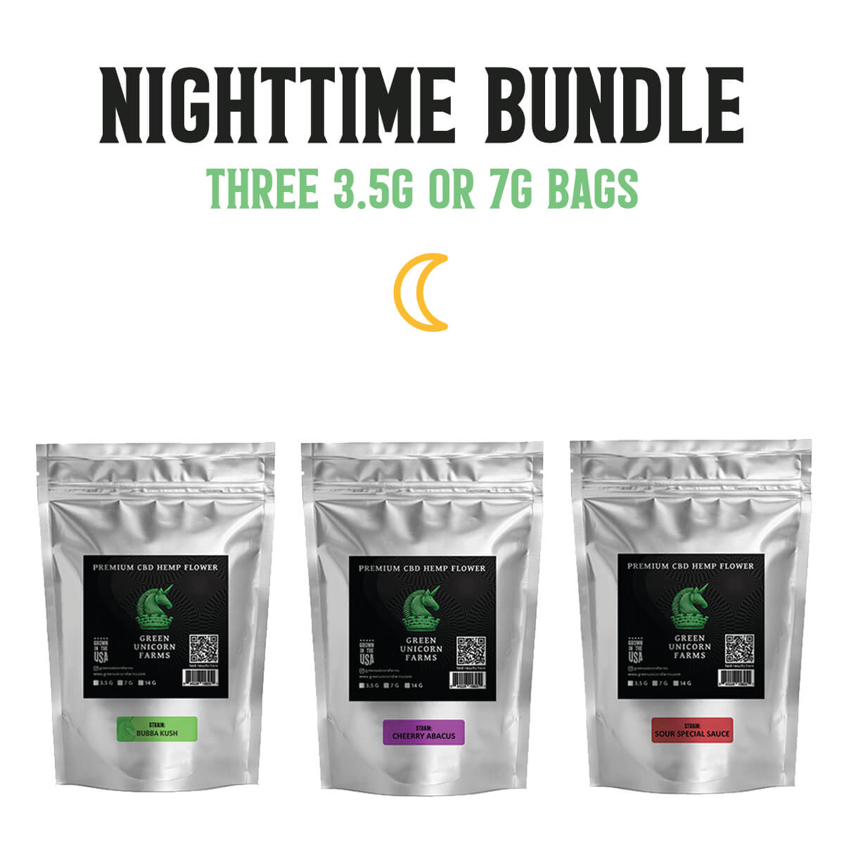 Indica nighttime cbd flower bundle