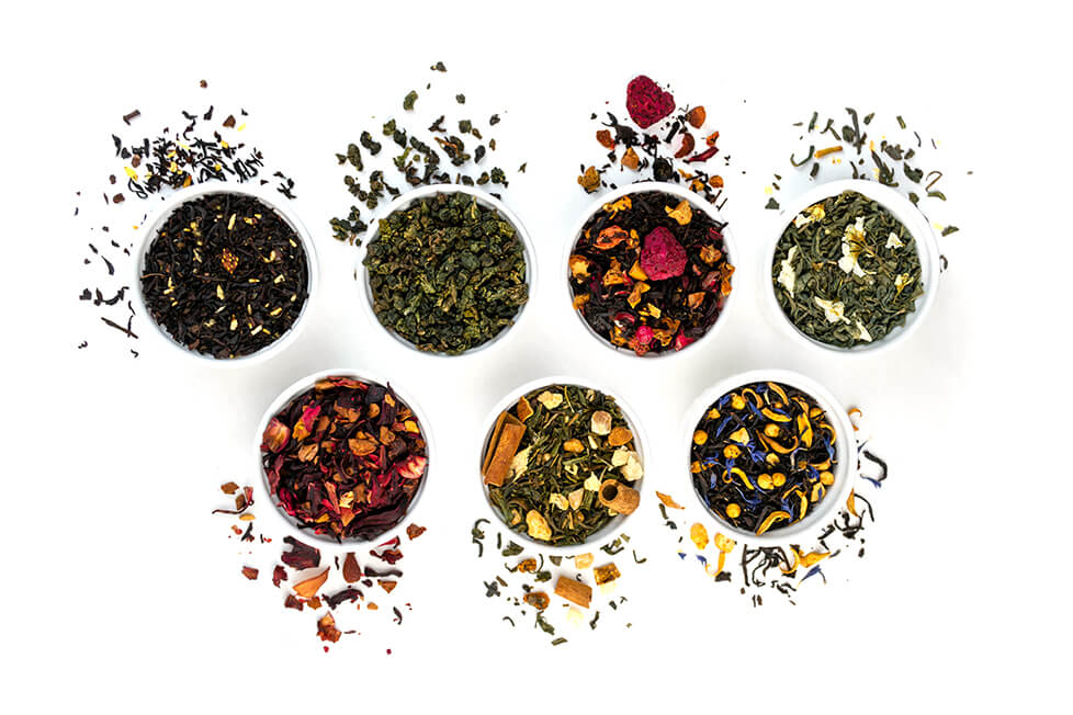 Tea blends for CBD tea