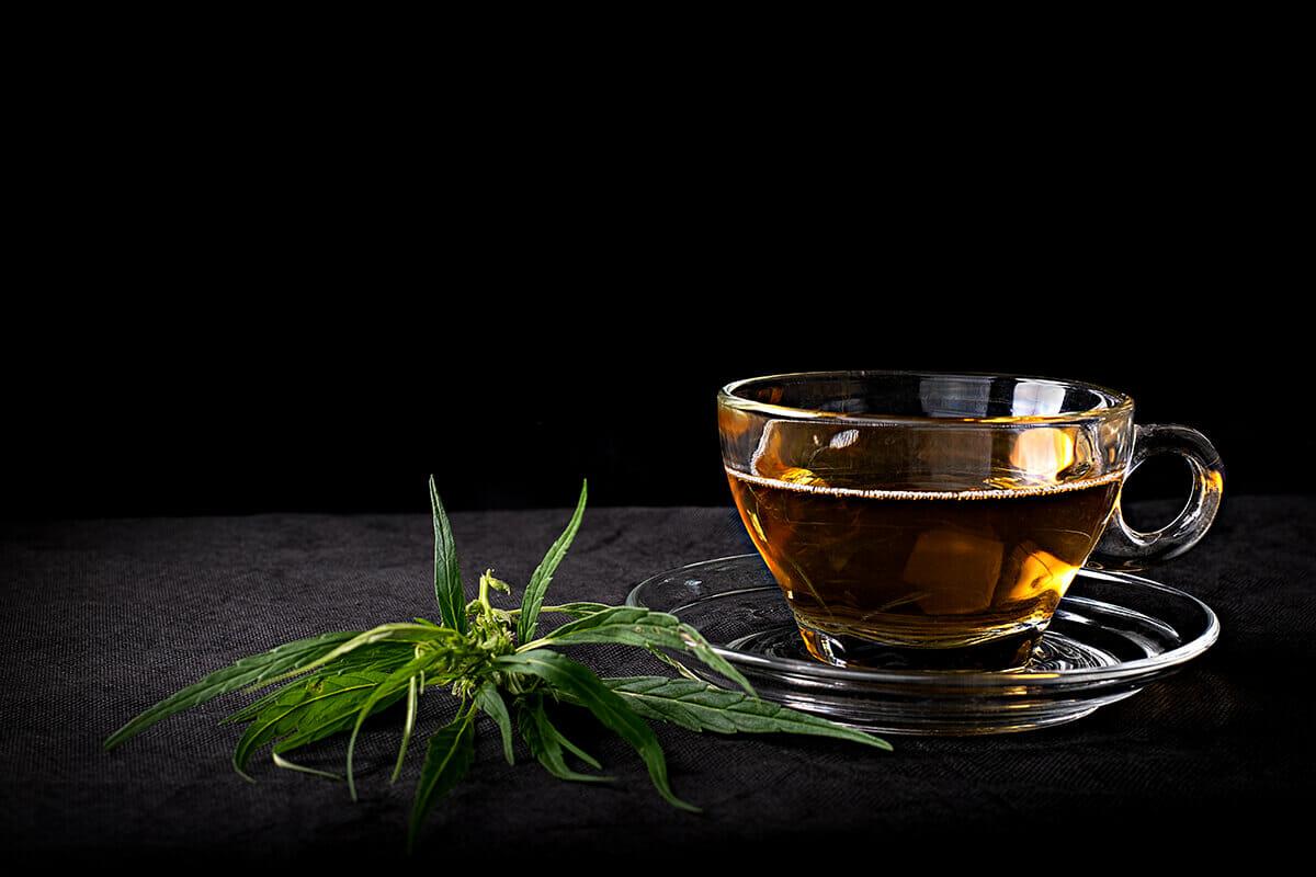make cbd tea from flower