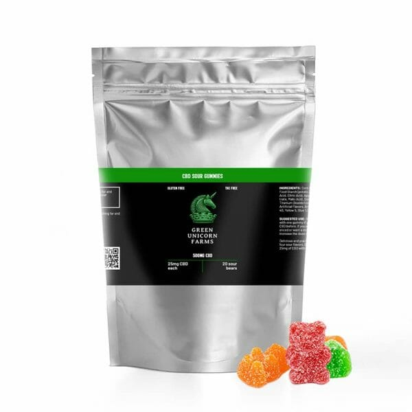 sour CBD gummies bag